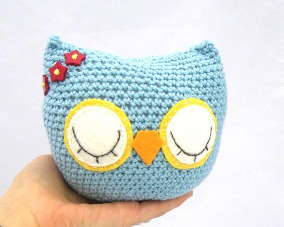 RESERVED LISTING for Robin  owl plush 100% organic cotton personalized custom amigurumi
