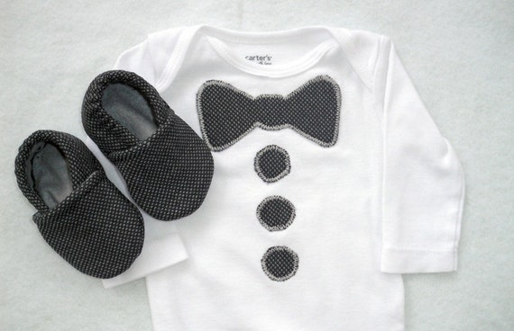 Baby Boy Bow Tie Onesie Menswear