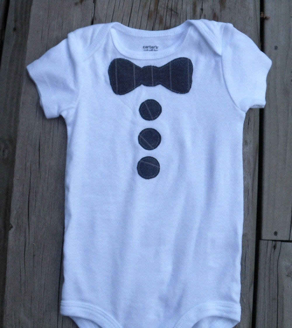 bow tie onesie menswear pattern