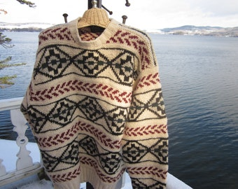 ralph lauren vintage sweater,gorgeous pullover,ski sweater,unisex, heavy