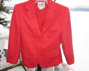 SALE   vintage hermes wool jacket , pan am paris, couture red  rare