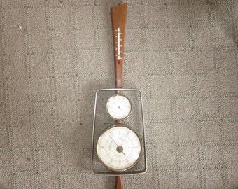 vintage barometer, danish modern , thermometer, home decor mid century modern