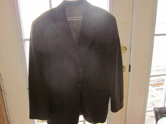 SALE..   mens sz 42-R cavelli blazer, cashmere and angora,deep chocolate color,gorgeous mint