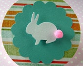 Sweet and Sparkly Easter Bunny Embellishments (white) by PuzzleDust