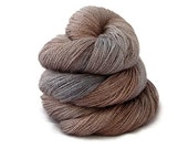 "Baby Alpaca Silk Lace Yarn Hand Dyed ""Industrial"" - UK Seller"