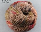 "Sock Yarn Hand Dyed Superwash ""Earth Tones"" - UK Seller"