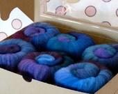 Spinning Fiber Batts - Cupcake Fiber SW BFL/Nylon Sock Fiber Batts - 6 ounces  - Dreaming
