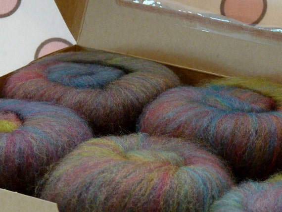 Cupcake Fiber Superwash BFL/Nylon Sock Fiber Batts 6 ounces  - Roycroft