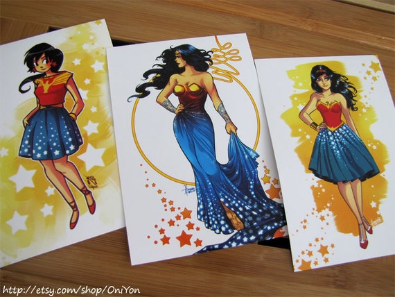 Wonder Woman Redesign Series Postcards (Limited Edition)