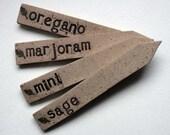 Handmade ceramic garden herb labels - Spring