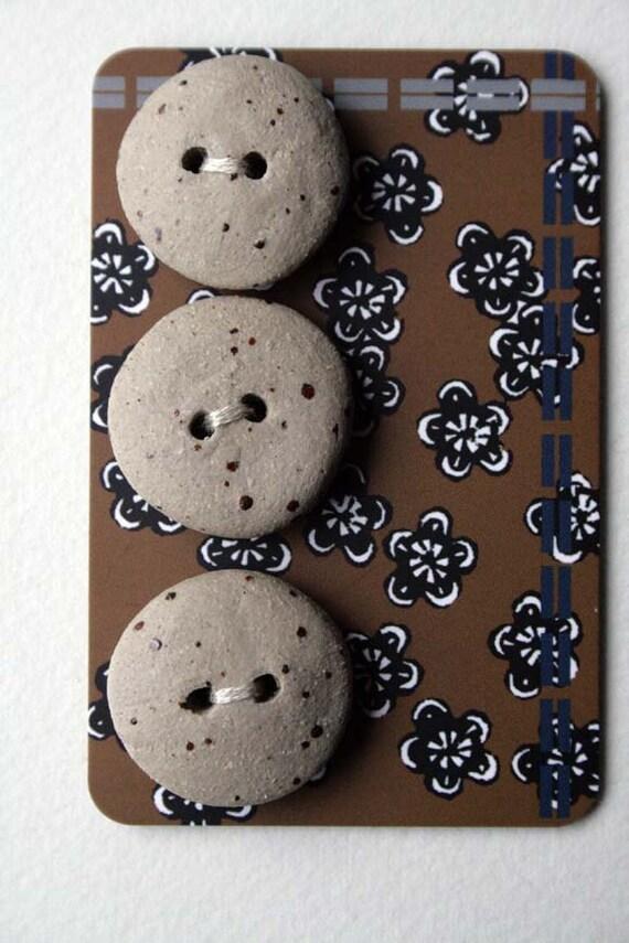 handmade ceramic pebble buttons