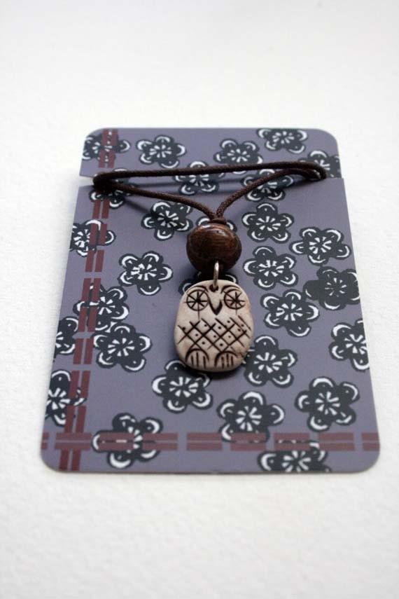 Woodland owl pendant - Hedwig