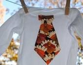 Get your little boy in the Thanksgiving Spirit - turkey tie shirt or bodysuit