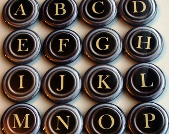 Magnet Alphabet Old Typewriter Font- Your choice of 1