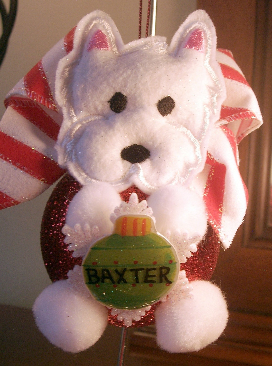 Dog ornament Personalized Terrier Christmas by ...