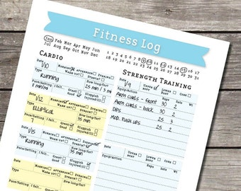Weekly Exercise and Fitness Log/Journal - PDF