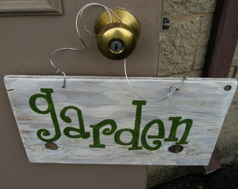 """Handcrafted Wooden Garden Sign / Fresh from the """"Garden""""  / Upcycled Wood"""