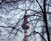 Berlin TV Tower Abstract Photograph 8x8