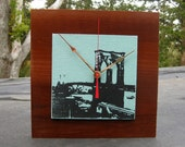 Brooklyn Bridge Clock, Father's Day Gift, Reclaimed Wood, New York Clock