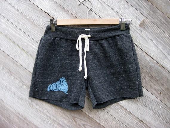 wobble wobble wobble Walrus Running Shorts, Size Small