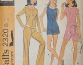 Vintage McCall's 2320 Misses and Juniors Jumpsuit - 1970's