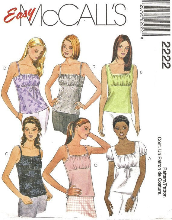 Vintage McCall's 2222 Misses Gathered Front Top - 1990's