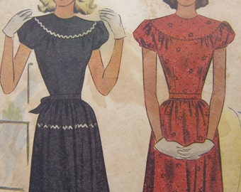 Now on Sale, Pretty Miss, 1946 McCall's Dress Sewing Pattern 6532, Size 11, Bust 29, Uncut