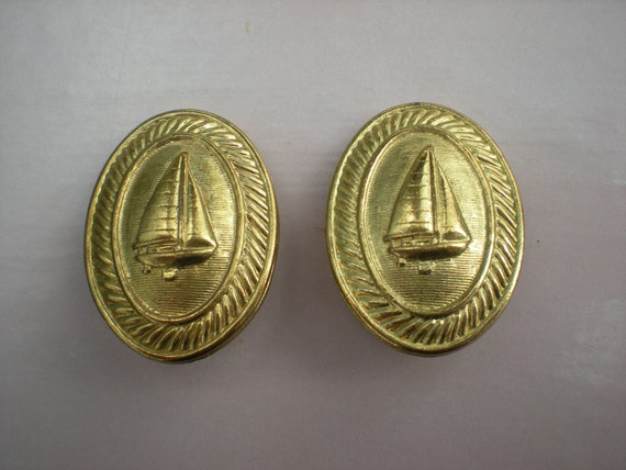 Now on Sale, Sail on Down the Line, Nautical Sailboat Earrings