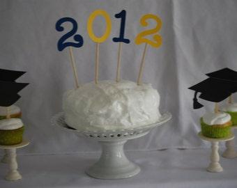 Class of 2012 Cake Topper, Graduation Cake Topper