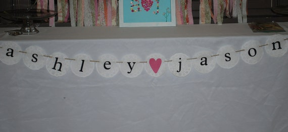 Bridal Shower Banner, Wedding Banner