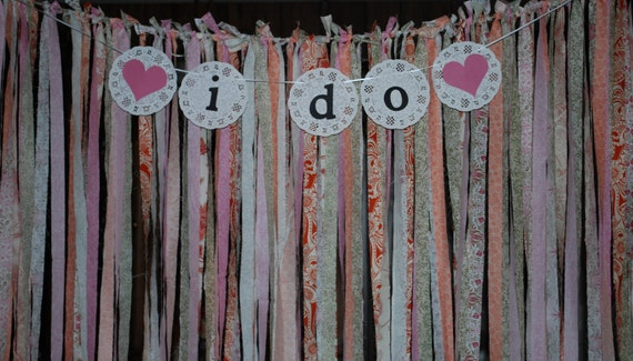 Fabric Backdrop, Streamer Backdrop, Shabby Chic Backdrop