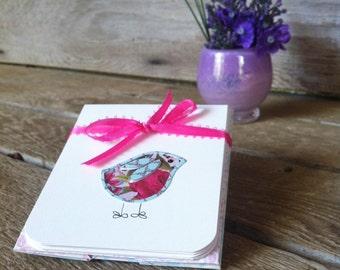 Sweet little bird notecards - set of 3