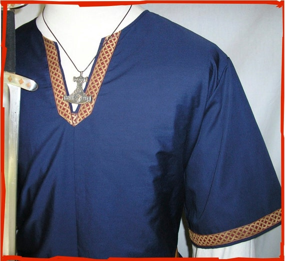 Viking, Medieval Tunic with Celtic knot trim
