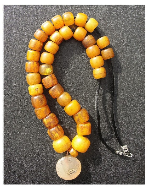 Amber Necklace / Stamp Seal