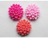 3pc 17mm Chrysanthemum Rein Cabochon Mix02