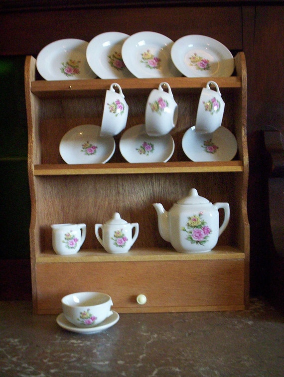 Toy Dishes Vintage Toy China Tea Set And By Yesterdaystoys