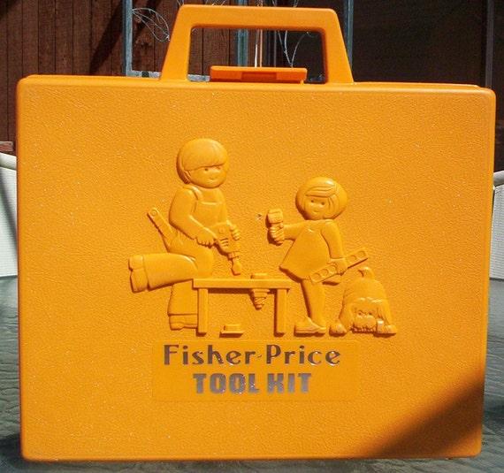 Fisher Price Tool Kit.  1977 Fisher Price Tool Kit.  Vintage Fisher Price