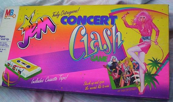 Vintage Board Game.  Jem Concert Clash Game.  1986 Milton Bradley Jem Truly Outrageous Concert Clash Game.