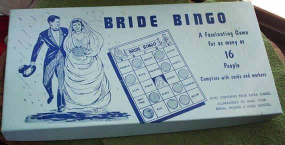 Vintage Game. 1957 Bride Bingo Game.  June Wedding Bingo Game. Vintage Bridal Shower Bingo Game