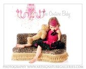 Hot Pink and Black Zebra Feather Pad Accent with Rhinestone Headband Photography Prop
