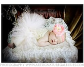 Pink Princess Flower Shabby Chic Elegant Flower Headband Accented with Couture Vintage Rhinestone Photography Prop