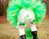 Pinch Proof Leprechan Saint Patrick's Day Lime and Kelly Green Shamrock Diaper Cover Bloomers Photo Prop