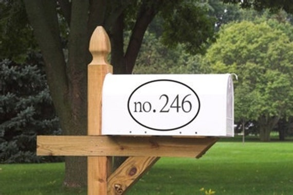 Mailbox Numbers Vinyl Decal Customized