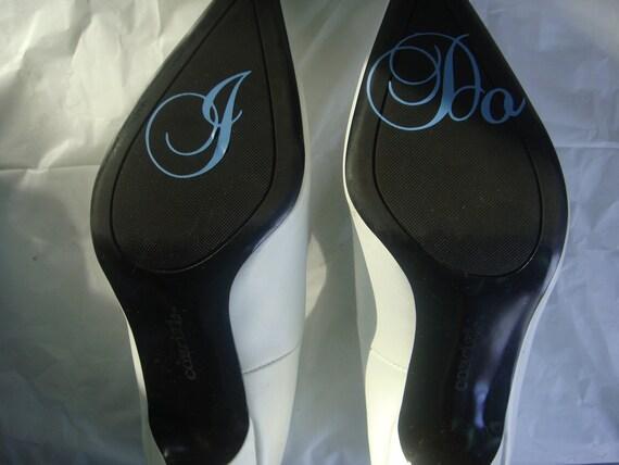 I Do Shoe Sticker for Brides Shoes Something Blue for Wedding