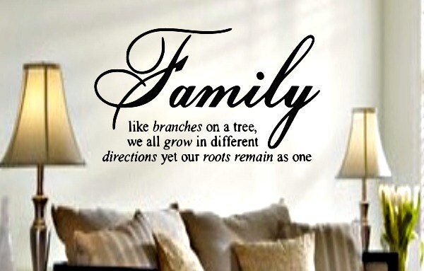 Like Branches On A Tree Quote: Family Like Branches On A Tree Vinyl Quote By