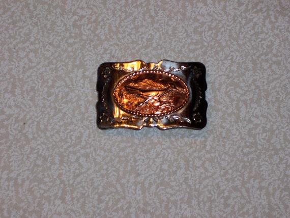 Silver Nickle Copper Belt Buckle