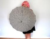 Vintage Umbrella Black and White Hologram