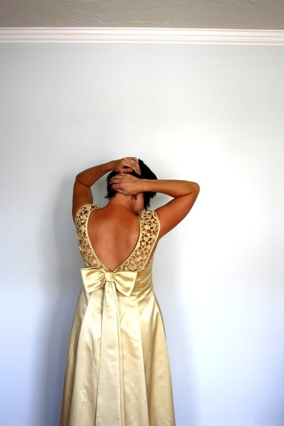 SALE- Ode to Belle - Vintage Yellow - gold-dress gown