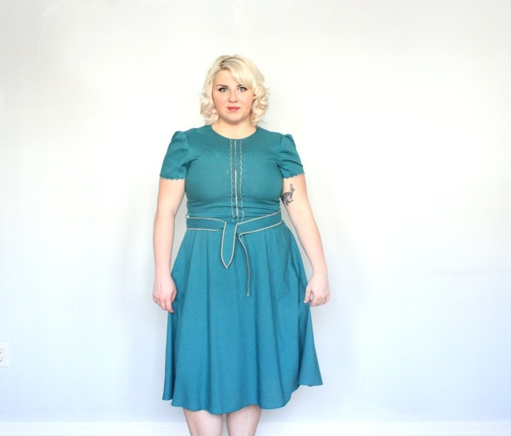 Peacock cupcake Vintage Dress plus size xxl sundress