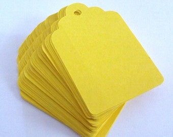 Sunshine Yellow Tags 3 inches set of 100